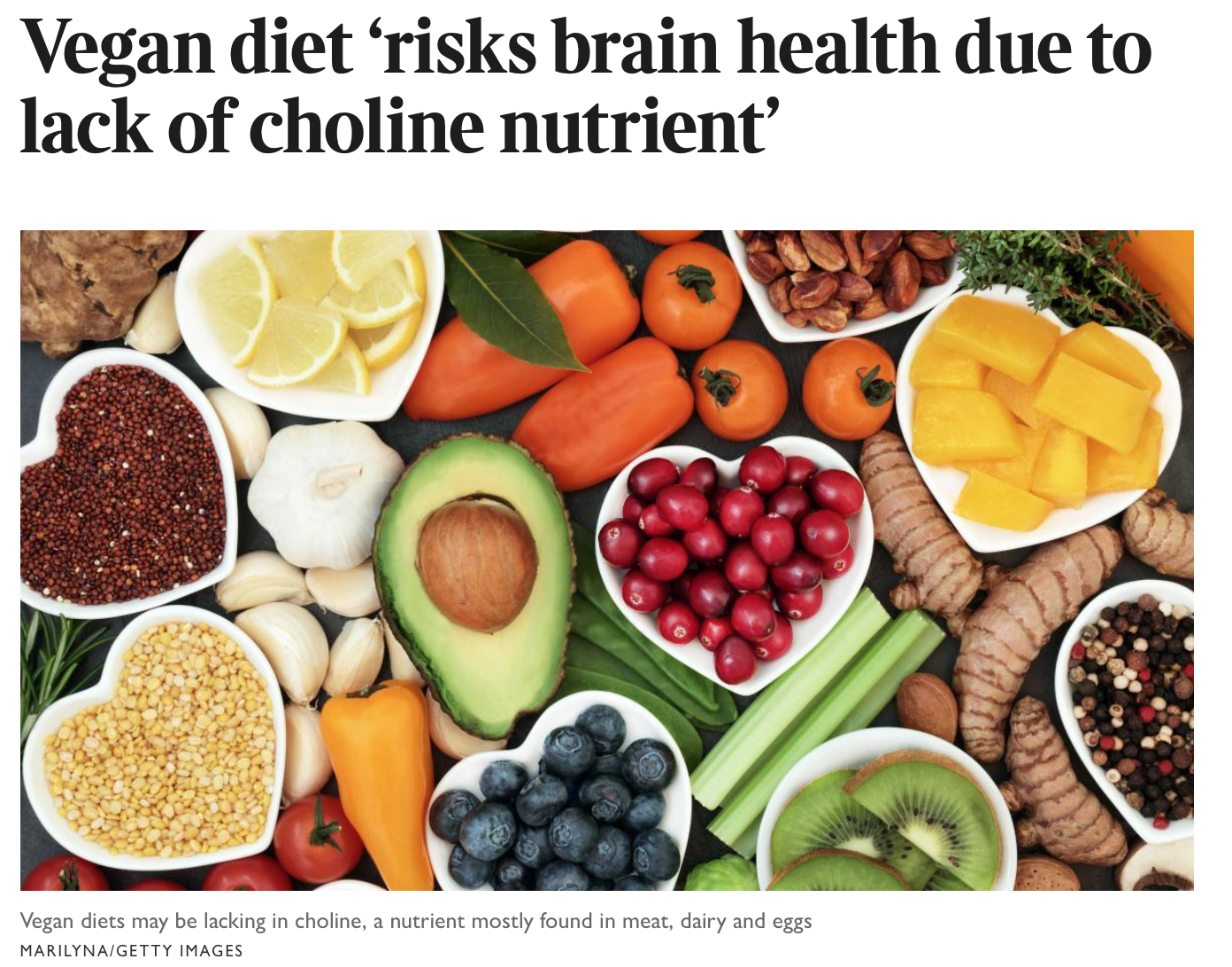 Are vegan diets deficient in choline?