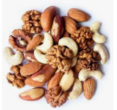A pile of mixed nuts