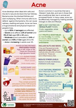 Plant based health factsheet - acne