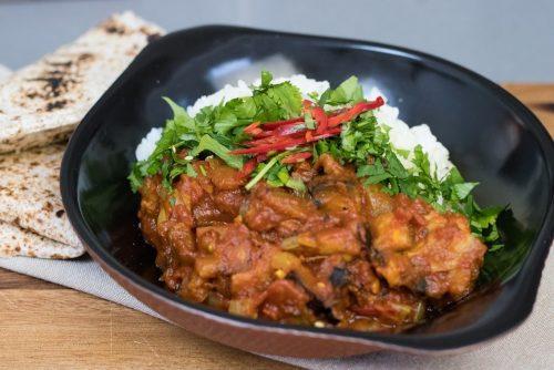 Aubergine curry