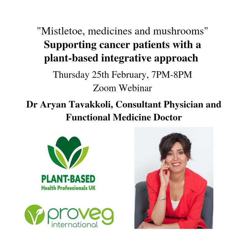Webinar:  Mistletoe, medicines and mushrooms: supporting cancer patients with a plant-based integrative approach