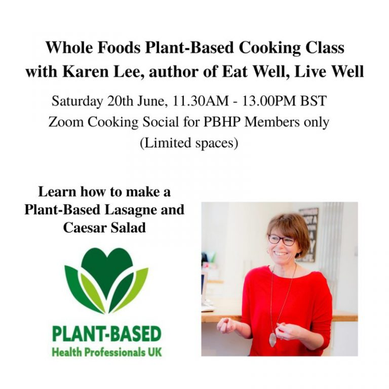 Whole Foods Plant-Based Cooking Class for PBHP Members