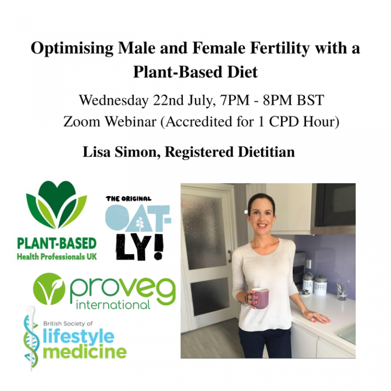 Optimising Male and Female Fertility with a Plant-Based Diet