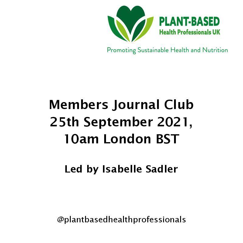 Members journal club September 2021