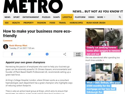 Metro how to make your business more eco-friendly