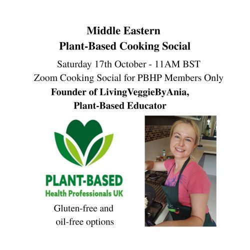 PBHP Members' Cooking Social – Middle Eastern Dishes