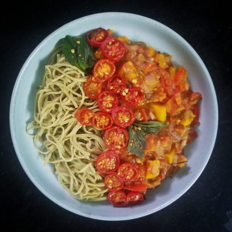 Red Lentil Ragù with Spaghetti