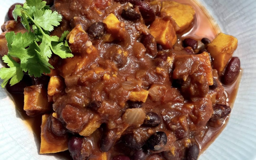 Sweet Potato and Mixed Bean Chilli