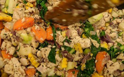 Tofu vegetable rice