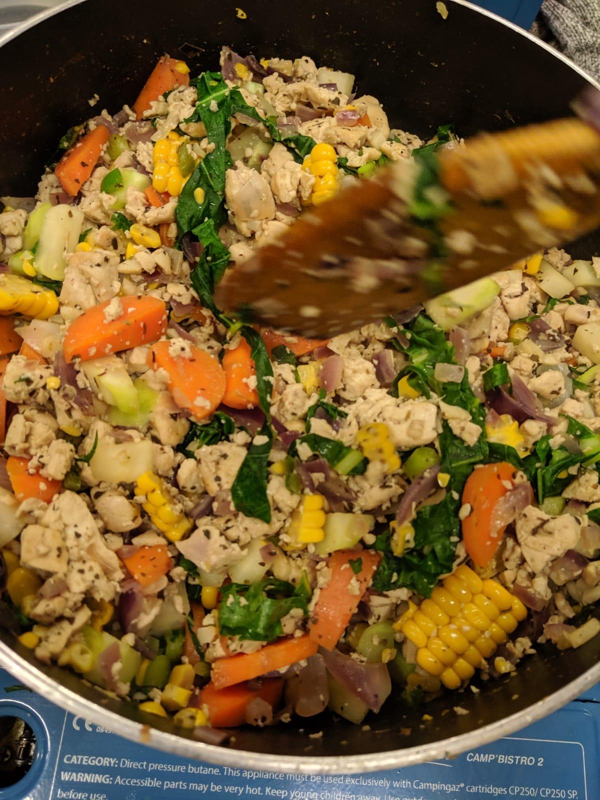 Tofu vegetable rice recipe