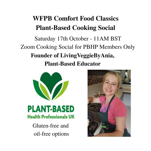 PBHP Members' Cooking Social – WFPB Comfort Classics