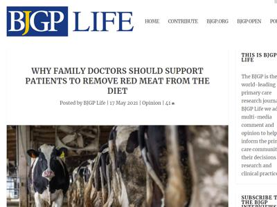 BJGPLife remove red meat from diet
