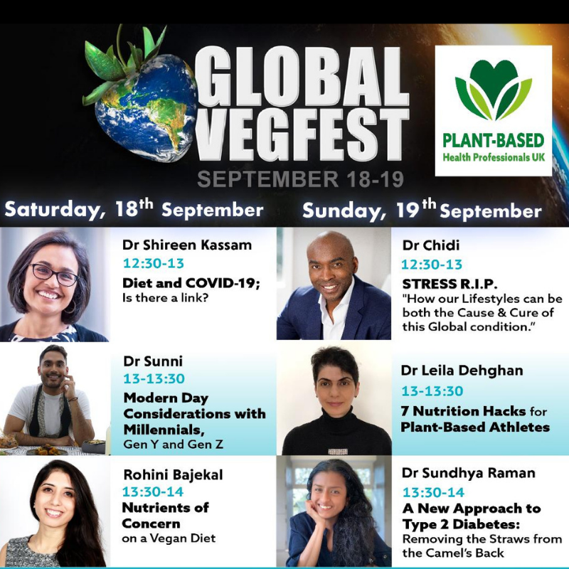 Health sessions at Global Vegfest 2021