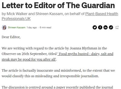 Letter the the guardian editor 9th Oct 2021