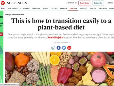 Independent how to transition to plant based diet