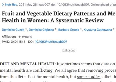 Review of the week's plant-based nutrition news 6th June 2021