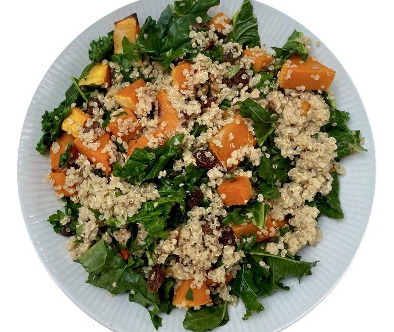 Roasted Squash, Kale and Quinoa salad