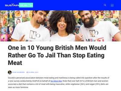 One in 10 Young British Men Would Rather Go To Jail Than Stop Eating Meat